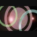 横スクロールするライトからの波紋アニメーション