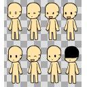 着せ替えミニ立ち絵 本体3 肌色:ffe4a9