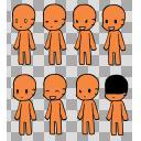 着せ替えミニ立ち絵 本体3 肌色:f6883f