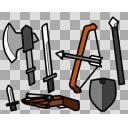 【アイコン風】ゆっくりサイズの中世武器っぽい小道具