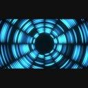 【動画素材】点滅するトンネル1(ブルー)
