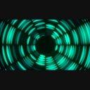 【動画素材】点滅するトンネル2(グリーン)