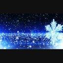 【背景素材】 クリスマス背景 雪 結晶