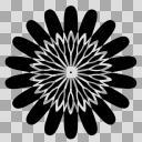 細かい花【図形シルエット】