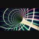 サイバー空間を高速疾走するアニメ素材 【ループあり】