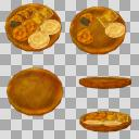 せんべいセット(3D・CG)
