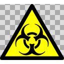 バイオハザード、警告注意、標識