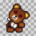 【素材】ホラー用 クマのぬいぐるみ