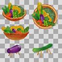 夏野菜まとめ(3D・CG)