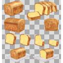 パウンドケーキ(3D・CG)