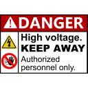 高圧電流 危険看板