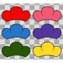 おそ松さん家の松マーク 6色