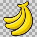 バナナイラスト(1)