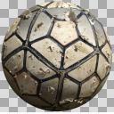 ぼろぼろのサッカーボールpng
