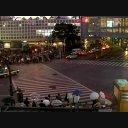 渋谷スクランブル交差点@夜