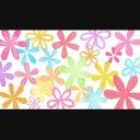 回る水彩の花 A