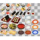 寿司セット(3D・CG)
