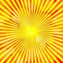 集中線(イメージ太陽)