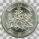 五百円玉硬貨表