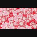 ループする背景(横に流れる和風な花)