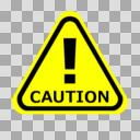 【標識】注意・CAUTION【イラスト】ver2