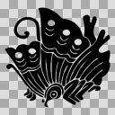 織田信長の家紋7種の一つ、揚羽蝶(あげはちょう)