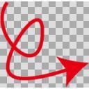くるりん赤矢印