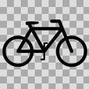 自転車【図形シルエット】