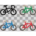 自転車イラストセット