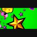 【ハロウィン素材】飛んでいくカボチャや星GB