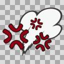 【フリー素材】怒りマーク04【感情アイコン】
