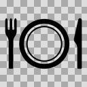 【モノクロアイコン】お召し上がり、店内飲食