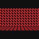 丸い模様が回転している空間(ループ)