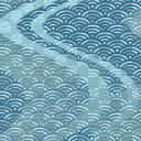 流水青海波模様
