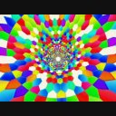 Hexagon_04 カラフルな六角形の中を進む 動画素材