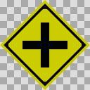 【透過素材】交差点あり【道路標識】