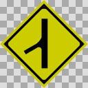 【透過素材】合流交通あり【道路標識】