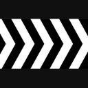 矢印模様(白黒)横に流れる