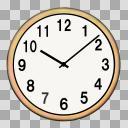 【アイコン】アナログ時計 壁掛け