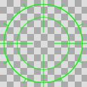 【透過素材】ロックオンサイト(緑)