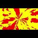 中心から火・炎のアニメーション