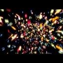 【透過素材・動画】色紙・紙吹雪が舞う パーティー 動画・放送用