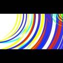 旋回しながら迫りくるシーンチェンジ(トランジション)波紋