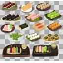 皿付き串だんごセット(3D・CG)