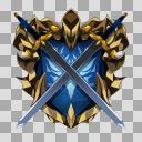剣と盾のロゴ