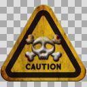 標識。ドクロ・毒・危険・封印