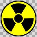 放射能マーク ステッカー風