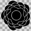 花のシルエット(1)