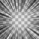 集中線2 透過 合成用 1000px×1000px