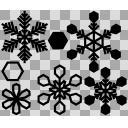雪の結晶詰め合わせ